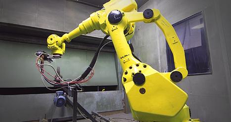 Robotic controlled HVOF Metalizing